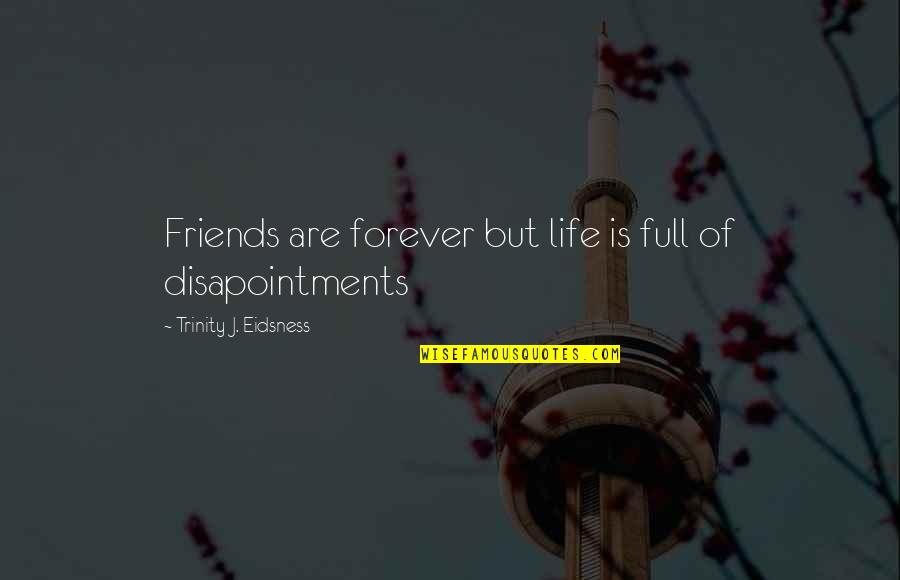 Forever Best Friends Quotes By Trinity J. Eidsness: Friends are forever but life is full of