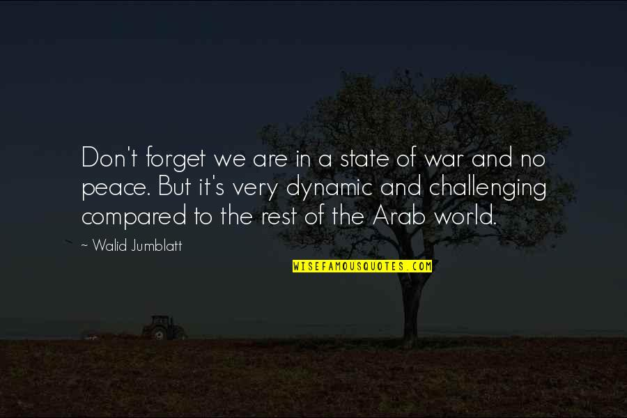 Forget The Rest Quotes By Walid Jumblatt: Don't forget we are in a state of