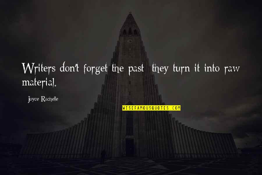 Forgetting The Past Quotes By Joyce Rachelle: Writers don't forget the past; they turn it