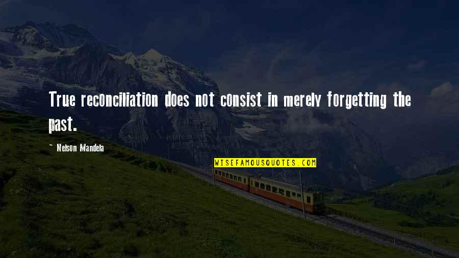 Forgetting The Past Quotes By Nelson Mandela: True reconciliation does not consist in merely forgetting