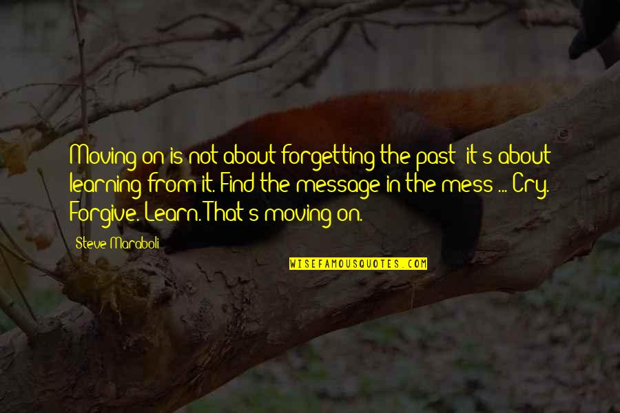 Forgetting The Past Quotes By Steve Maraboli: Moving on is not about forgetting the past;