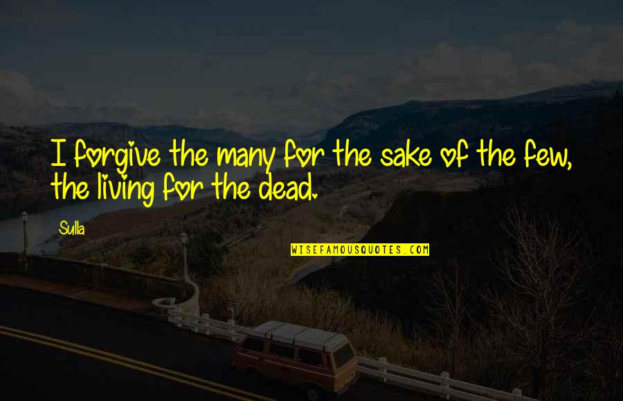 Forgive For Your Own Sake Quotes By Sulla: I forgive the many for the sake of