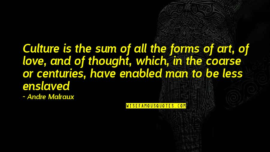 Forms Of Art Quotes By Andre Malraux: Culture is the sum of all the forms