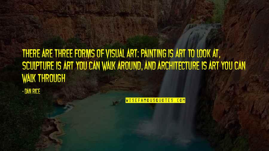 Forms Of Art Quotes By Dan Rice: There are three forms of visual art: Painting