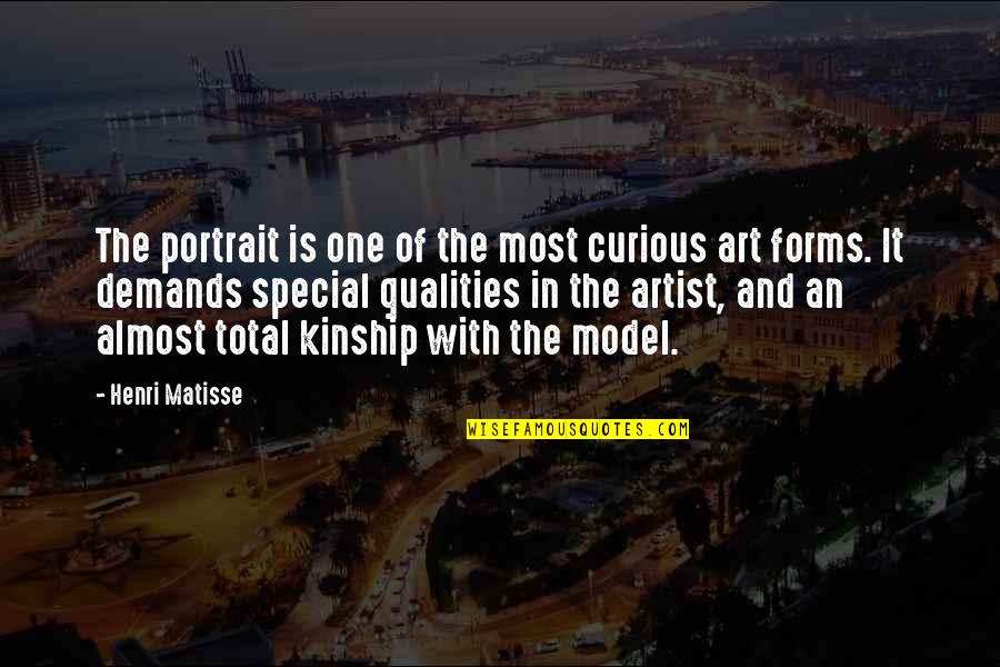 Forms Of Art Quotes By Henri Matisse: The portrait is one of the most curious