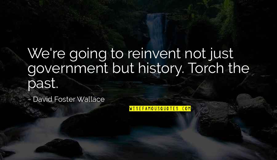 Formyouneed Quotes By David Foster Wallace: We're going to reinvent not just government but
