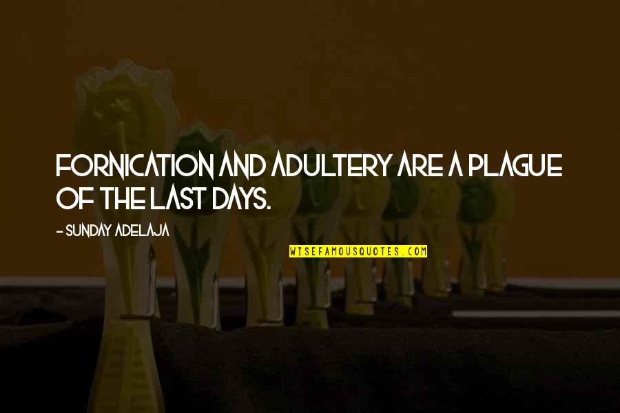 Fornication's Quotes By Sunday Adelaja: Fornication and adultery are a plague of the