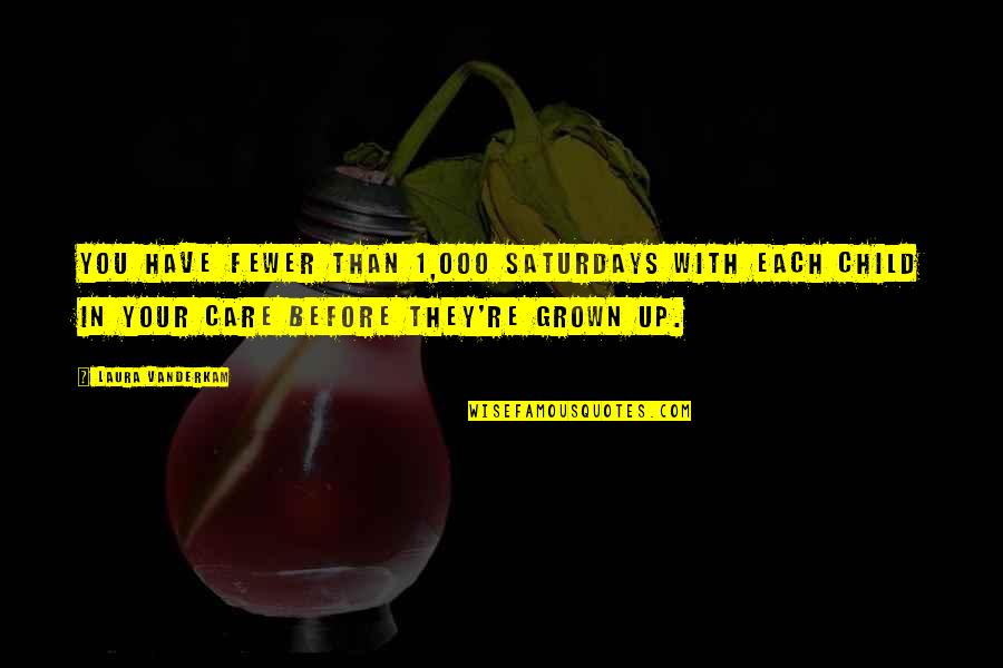 Forrest Gump Coon Quotes By Laura Vanderkam: You have fewer than 1,000 Saturdays with each