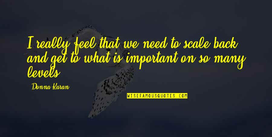 Fortissimo Quotes By Donna Karan: I really feel that we need to scale