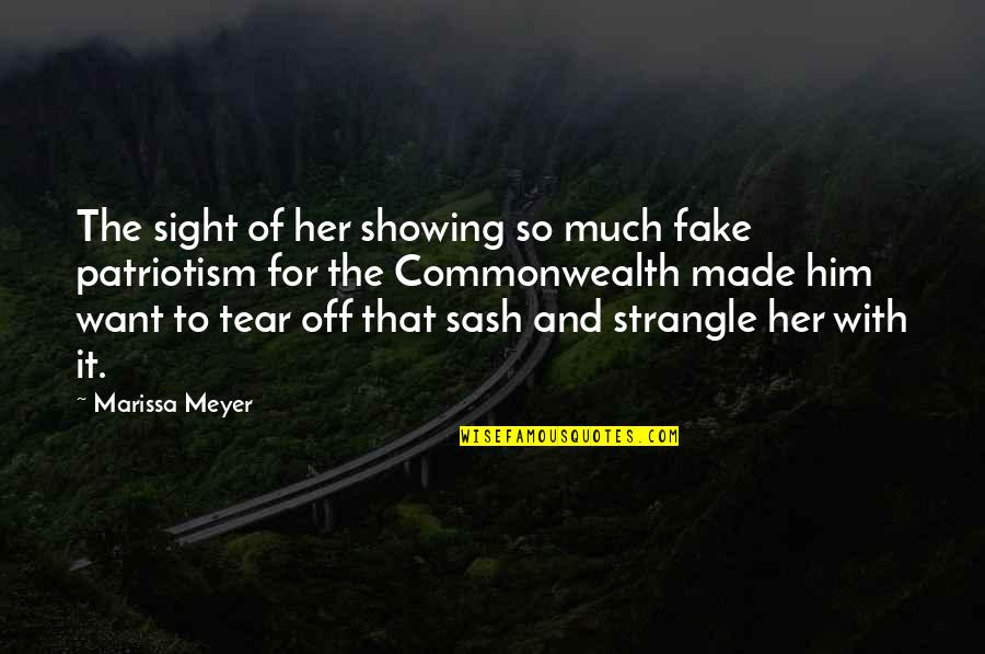 Fortunam Quotes By Marissa Meyer: The sight of her showing so much fake