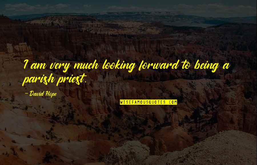 Forward Looking Quotes By David Hope: I am very much looking forward to being