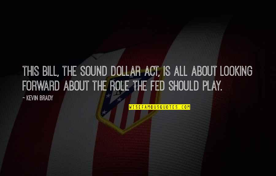 Forward Looking Quotes By Kevin Brady: This bill, the Sound Dollar Act, is all