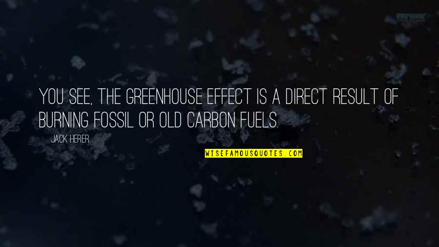 Fossil Quotes By Jack Herer: You see, the Greenhouse Effect is a direct