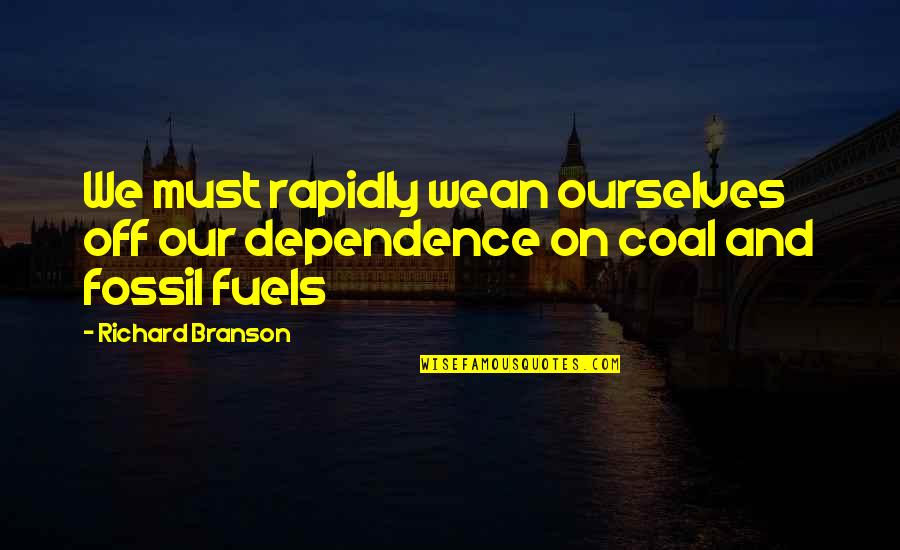 Fossil Quotes By Richard Branson: We must rapidly wean ourselves off our dependence