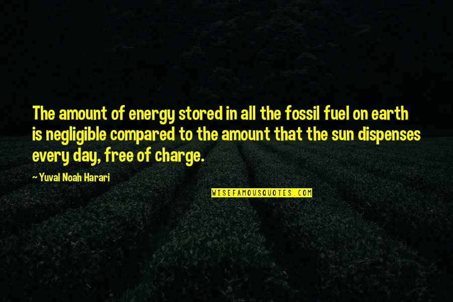 Fossil Quotes By Yuval Noah Harari: The amount of energy stored in all the