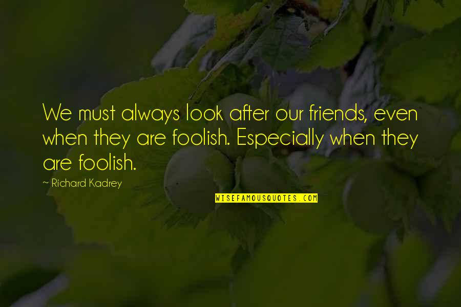 Fourth Birthday Quotes By Richard Kadrey: We must always look after our friends, even