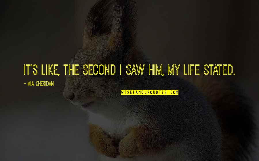 Fra Giovanni Giocondo Quotes By Mia Sheridan: It's like, the second I saw him, my