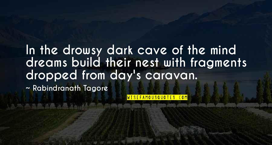 Fragments Quotes By Rabindranath Tagore: In the drowsy dark cave of the mind