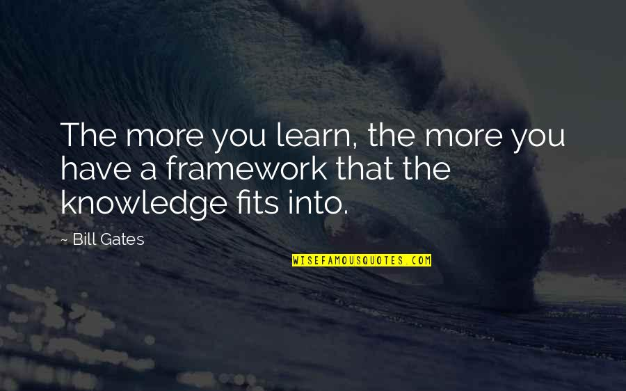 Framework Quotes By Bill Gates: The more you learn, the more you have