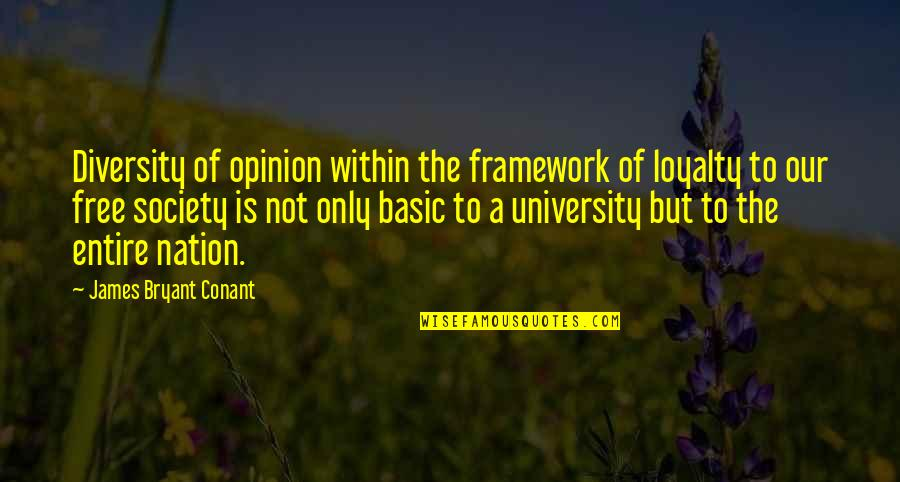 Framework Quotes By James Bryant Conant: Diversity of opinion within the framework of loyalty