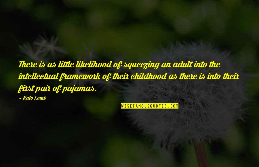 Framework Quotes By Kato Lomb: There is as little likelihood of squeezing an