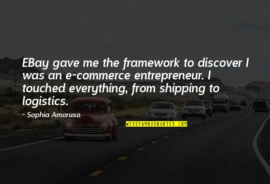 Framework Quotes By Sophia Amoruso: EBay gave me the framework to discover I