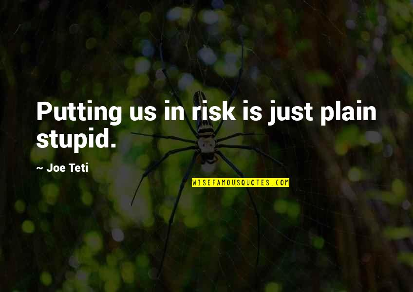 Francesco Clemente Quotes By Joe Teti: Putting us in risk is just plain stupid.