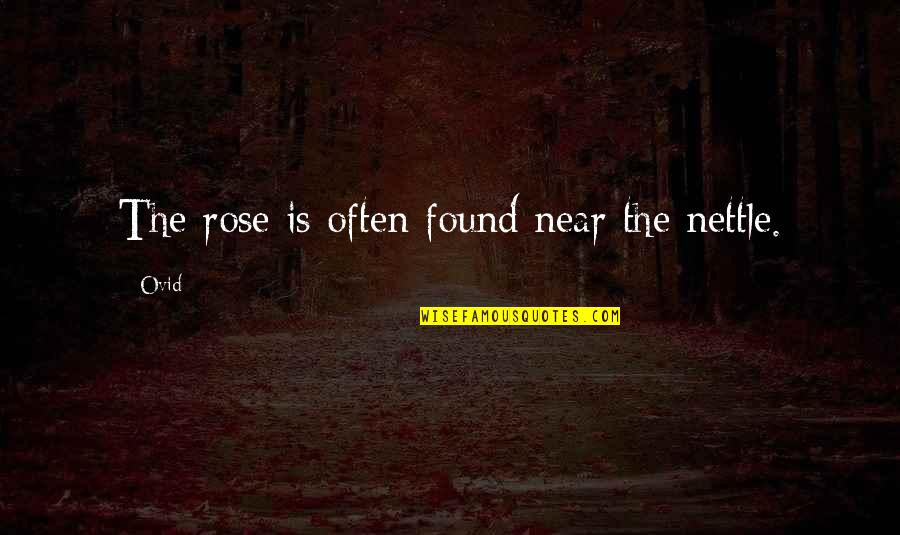 Francois Arnaud Quotes By Ovid: The rose is often found near the nettle.