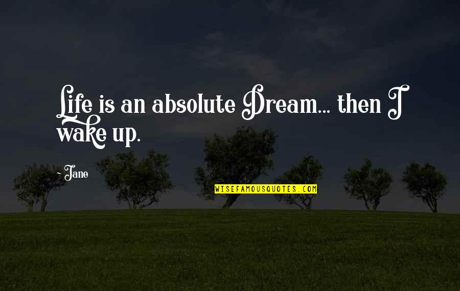 Francois Villon Quotes By Jane: Life is an absolute Dream... then I wake