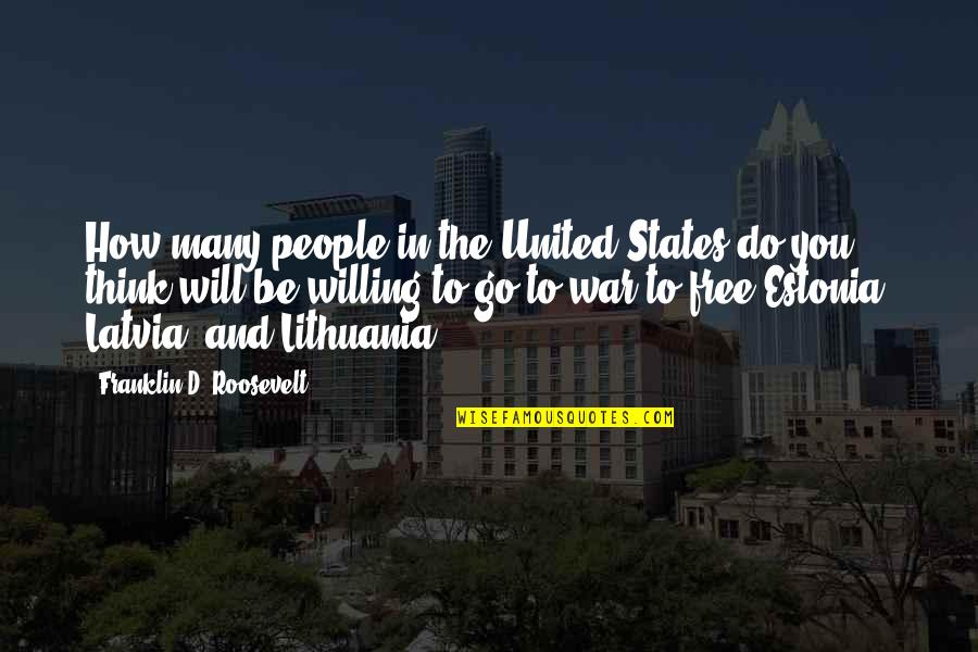 Franklin Roosevelt Quotes By Franklin D. Roosevelt: How many people in the United States do