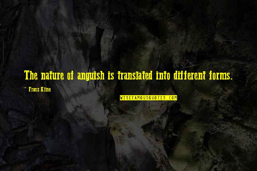 Franz Kline Quotes By Franz Kline: The nature of anguish is translated into different