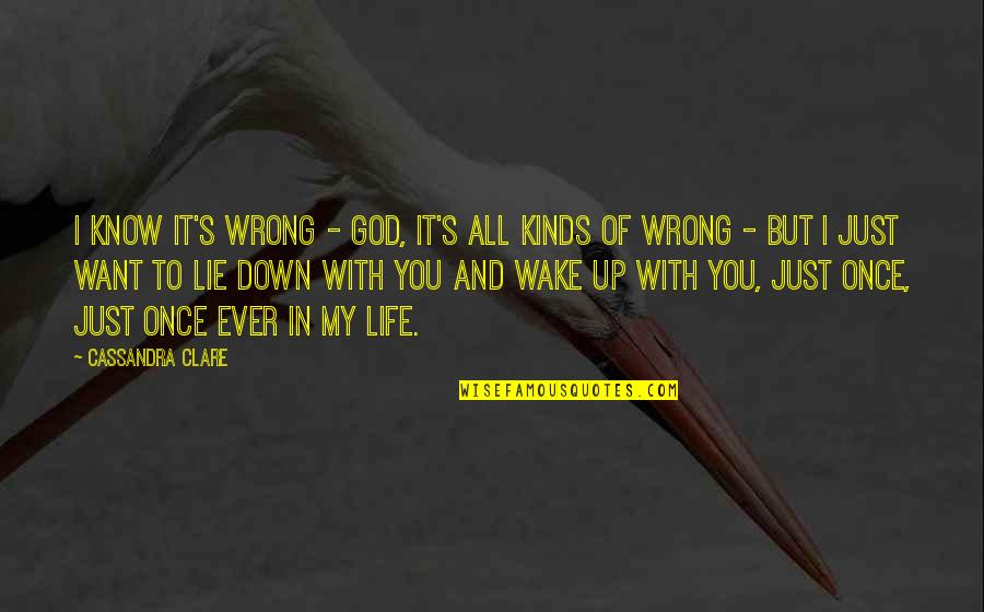 Fray Quotes By Cassandra Clare: I know it's wrong - God, it's all