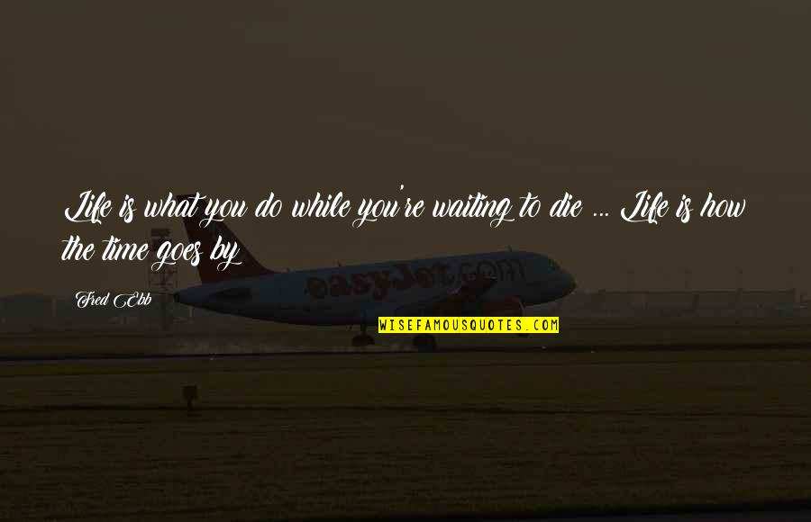 Fred Ebb Quotes By Fred Ebb: Life is what you do while you're waiting