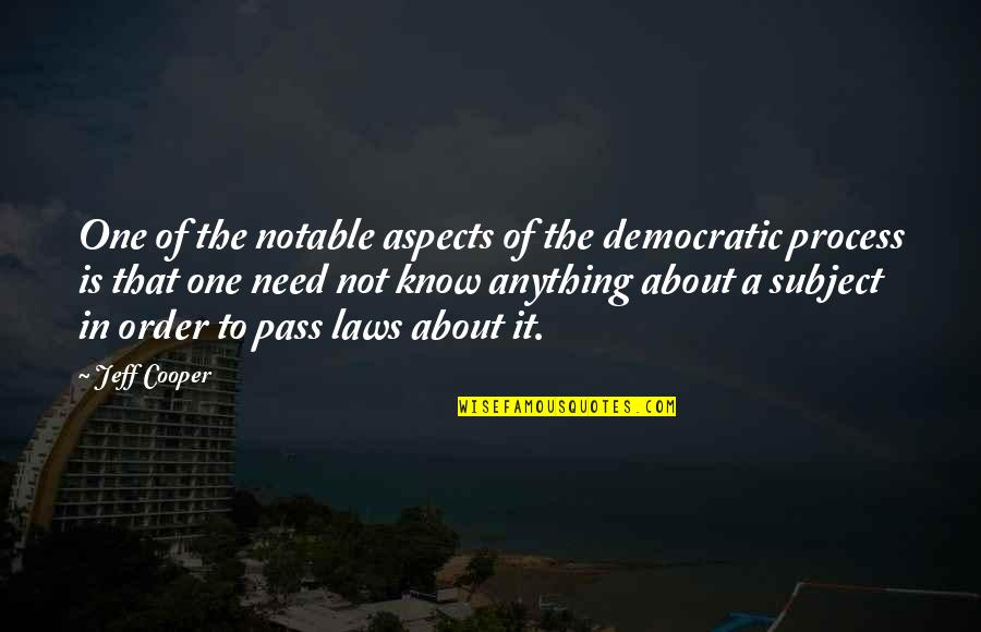Frederick Herzberg Motivation Quotes By Jeff Cooper: One of the notable aspects of the democratic