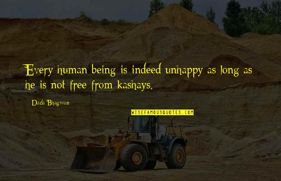 Free Spiritual Quotes By Dada Bhagwan: Every human being is indeed unhappy as long