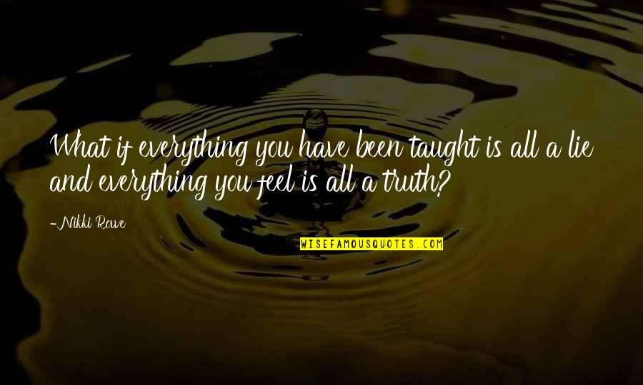 Free Spiritual Quotes By Nikki Rowe: What if everything you have been taught is