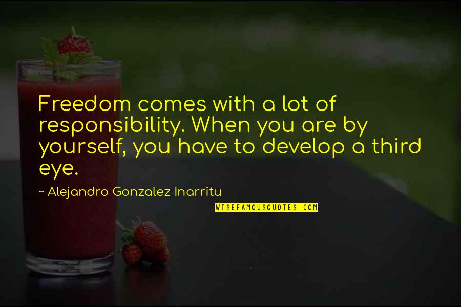 Freedom And Responsibility Quotes By Alejandro Gonzalez Inarritu: Freedom comes with a lot of responsibility. When