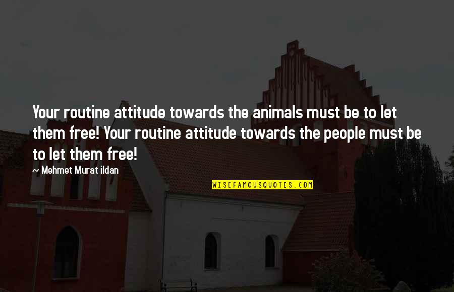 Freedom For Animals Quotes By Mehmet Murat Ildan: Your routine attitude towards the animals must be