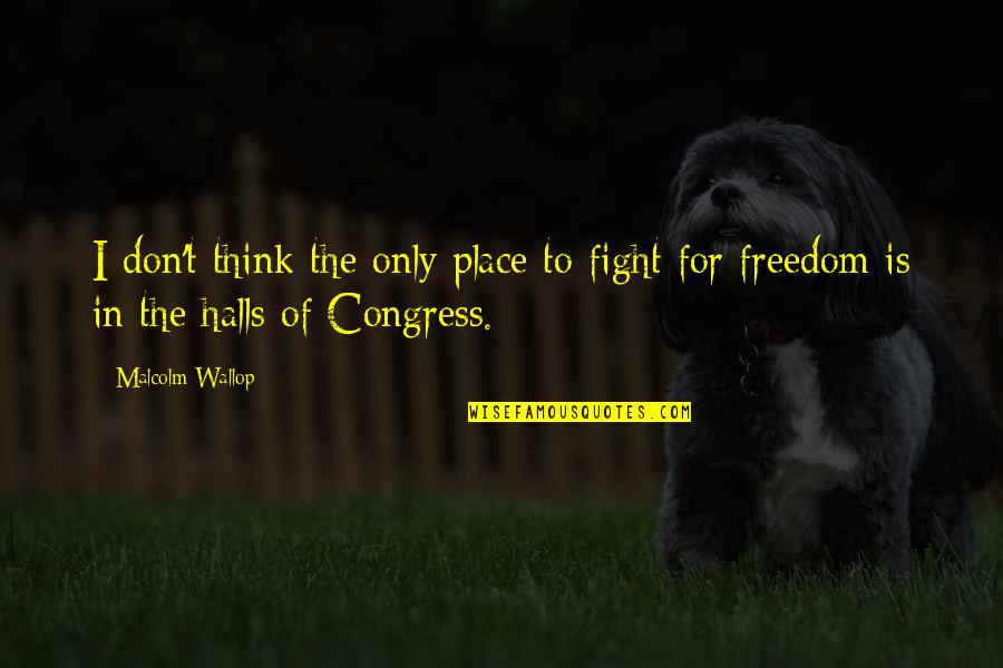 Freedom To Think Quotes By Malcolm Wallop: I don't think the only place to fight