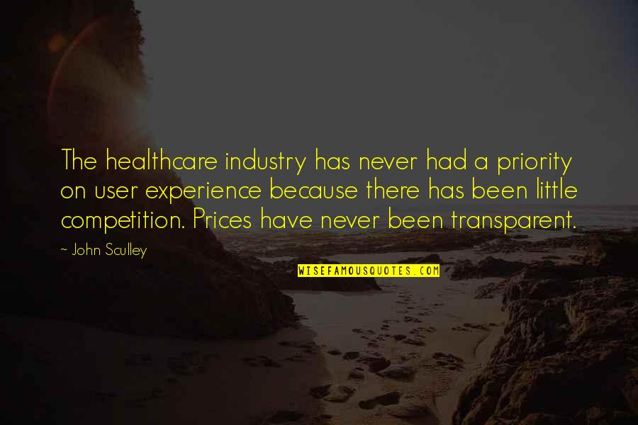 Friday The 13th Jokes Quotes By John Sculley: The healthcare industry has never had a priority