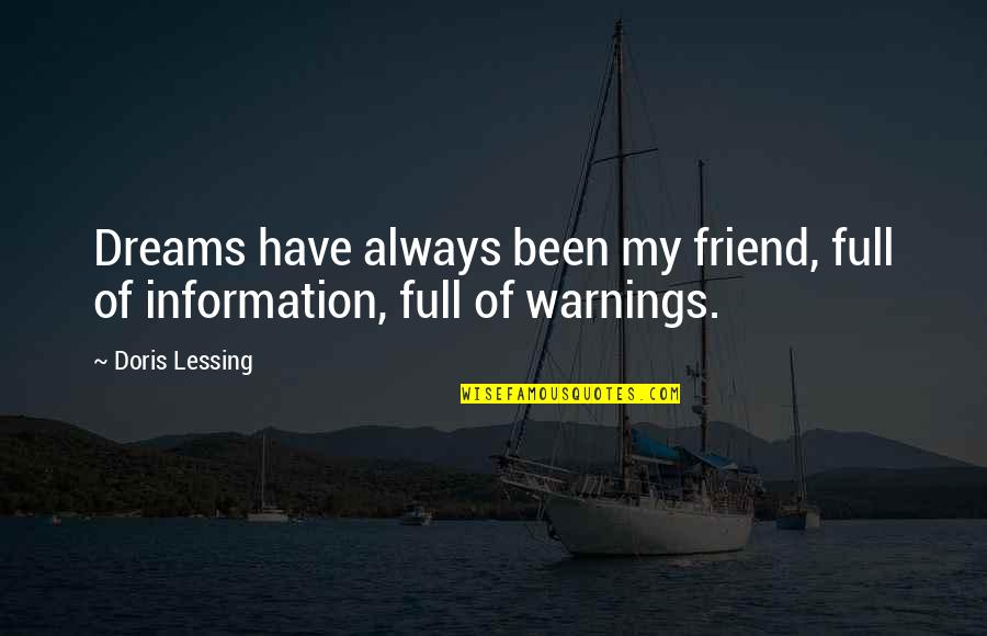 Friend Are Always There For You Quotes By Doris Lessing: Dreams have always been my friend, full of