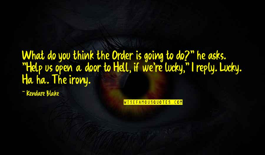 Friend In Distress Quotes By Kendare Blake: What do you think the Order is going