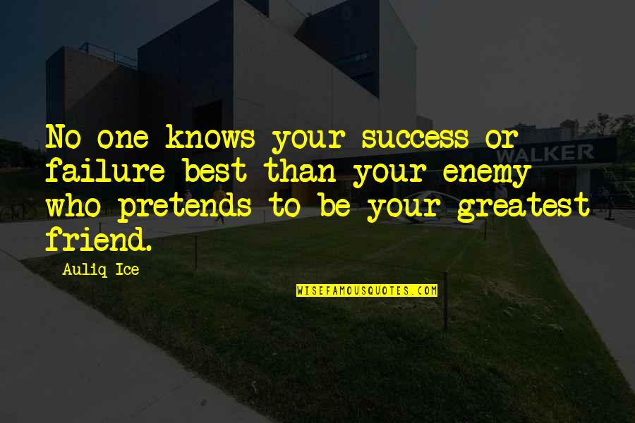 Friend Or Enemy Quotes By Auliq Ice: No one knows your success or failure best