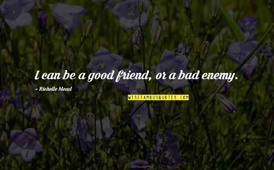 Friend Or Enemy Quotes By Richelle Mead: I can be a good friend, or a