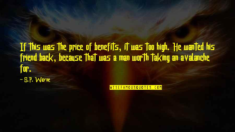 Friends And Benefits Quotes By S.P. Wayne: If this was the price of benefits, it