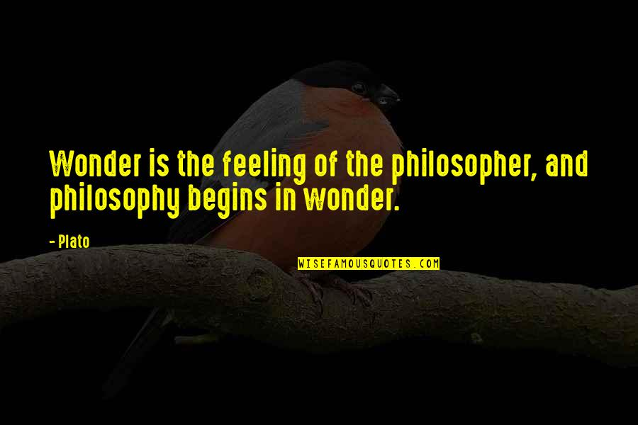 Friends Stressing You Out Quotes By Plato: Wonder is the feeling of the philosopher, and