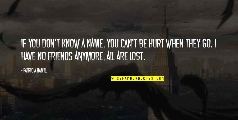 Friends That Are Not Friends Anymore Quotes By Patricia Hamill: If you don't know a name, you can't