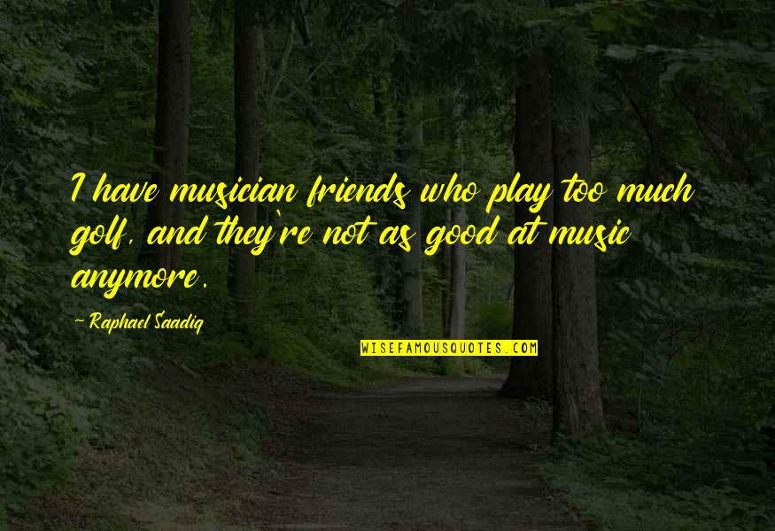 Friends That Are Not Friends Anymore Quotes By Raphael Saadiq: I have musician friends who play too much