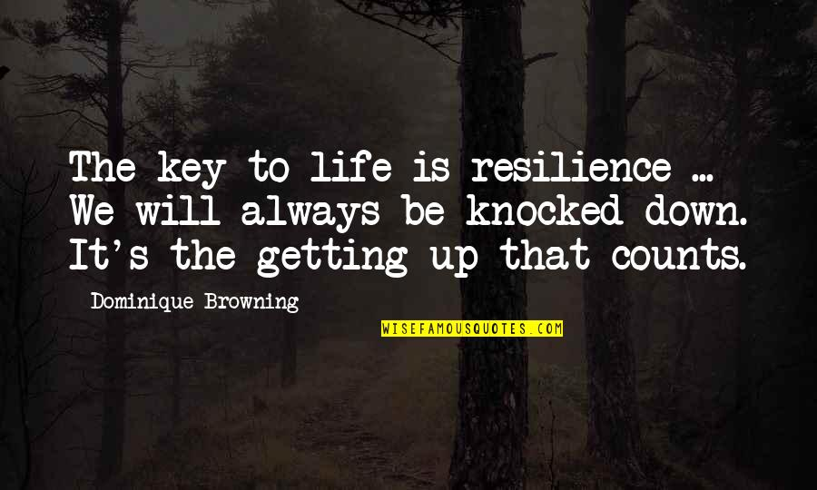Friends Turning 30 Quotes By Dominique Browning: The key to life is resilience ... We