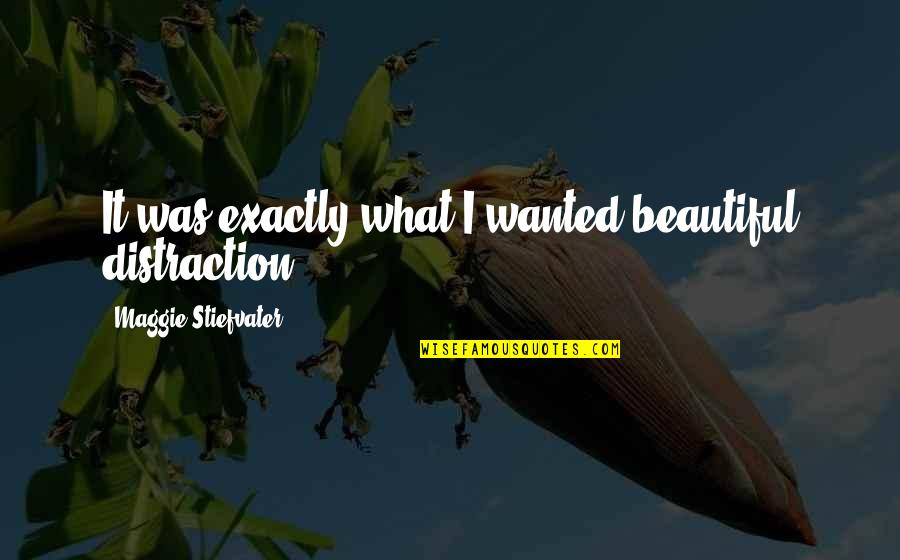 Friends Turning 30 Quotes By Maggie Stiefvater: It was exactly what I wanted-beautiful distraction.
